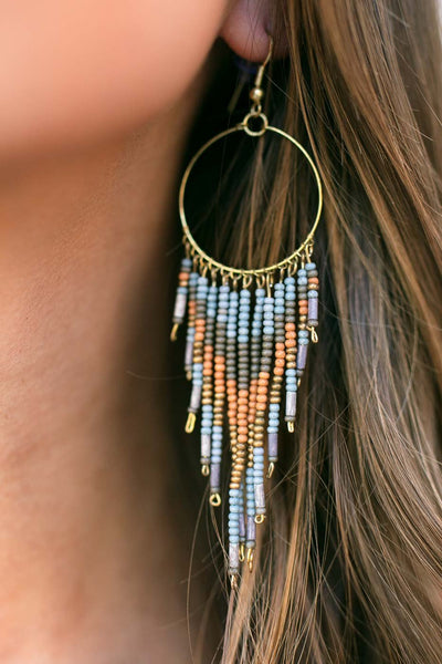 Your Own Person Beaded Tassel Earrings