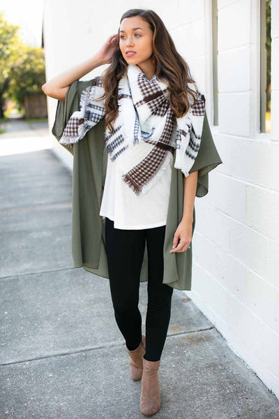 Accessories In The Kitchen Textured Blanket Scarf - Lotus Boutique