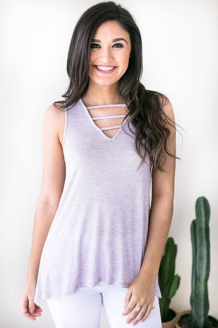 Ultralife Strappy Tank - Lilac