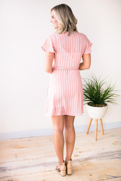 Dresses I Know a Place Stripe Wrap Dress - Lotus Boutique