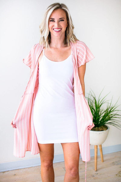 Dresses When You Need It White Slip Dress - Lotus Boutique