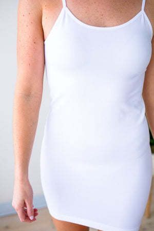 Easy White Slip Dress