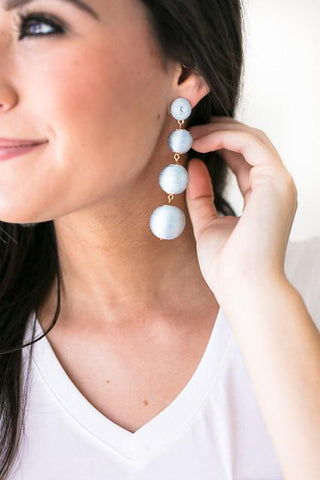 Modern Love Drop Earrings - Light Blue