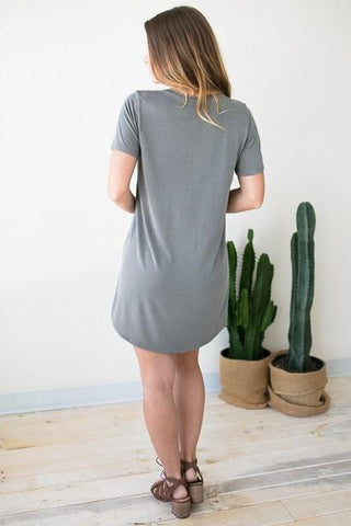 Bare Necessities T Shirt Dress - Grey