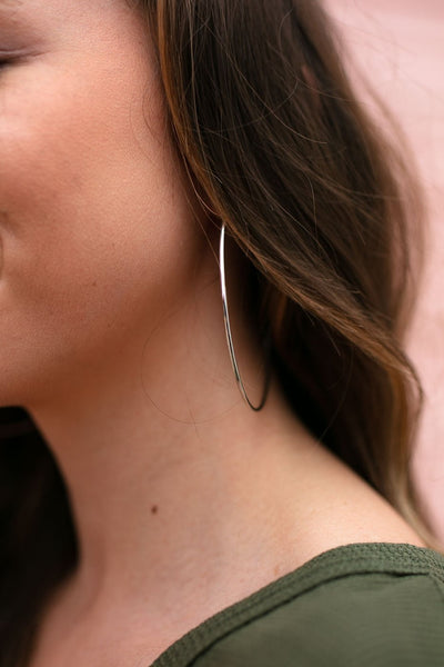 Accessories Same Ole Basic Silver Hoops - Lotus Boutique