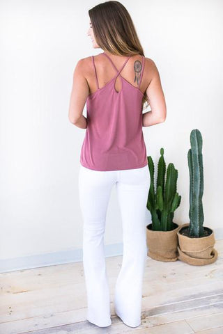 Wait for It Strappy Tank - Marsala