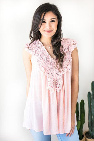 Joyous Crochet Sleeveless Top