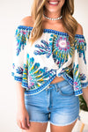 Flutter Sleeve Off Shoulder Top