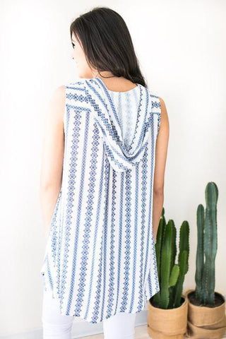 New Options Sleeveless Top - Blue