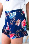 Bottoms Make the Most of It Floral Ruffle Shorts - Lotus Boutique