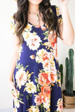 Flower Wall T Front Maxi Dress