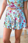 Bottoms Bring the Heat Pleated Floral Shorts - Lotus Boutique