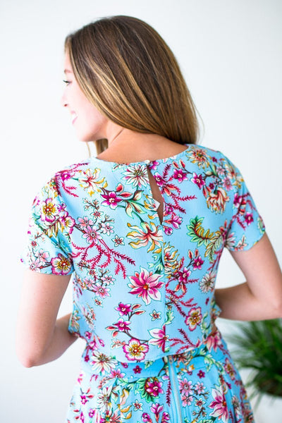 Tops Bring the Heat Floral Crop Top - Lotus Boutique