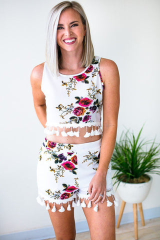 Floral Hideaway High Low Dress