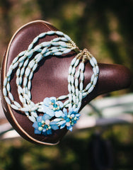 Bloom in Blue Statement Necklace