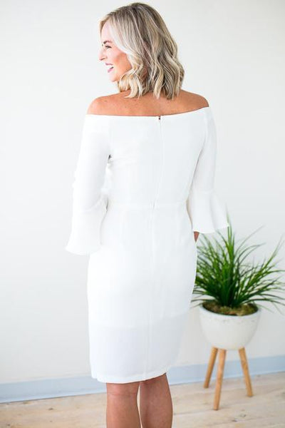 Dresses Event of the Year Off the Shoulder Midi Dress - Lotus Boutique