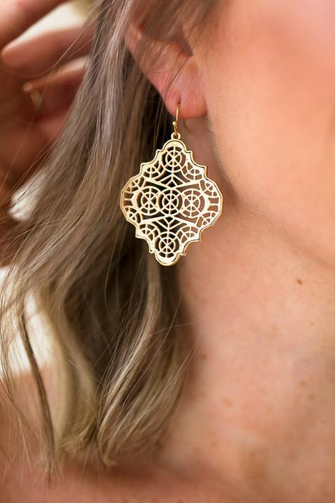 Classic Design Gold Earrings