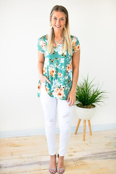 Tops Happens Like That Floral Top - Lotus Boutique