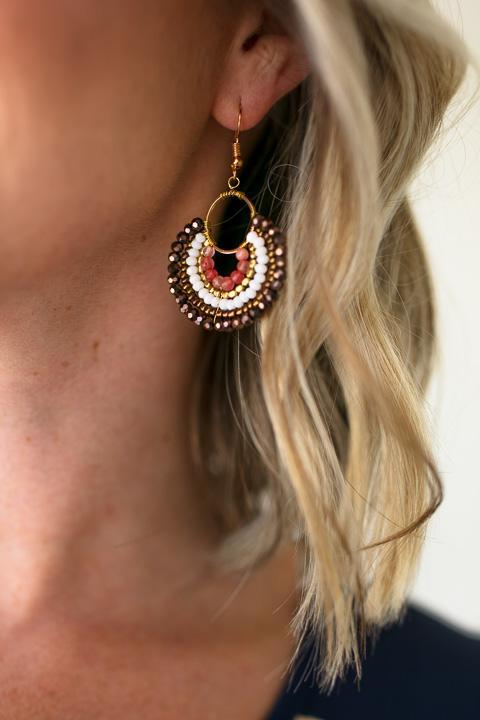 Accessories Broken Halos Beaded Earrings - Lotus Boutique