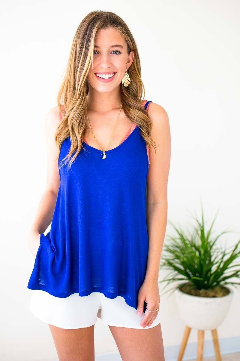 Cobalt Tank Top