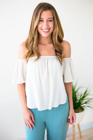 Cropped Off Shoulder Top