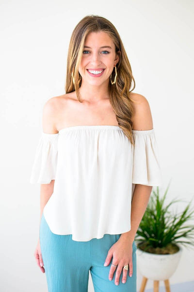 Tops Onto Better Things Flowy Off Shoulder Top - Lotus Boutique