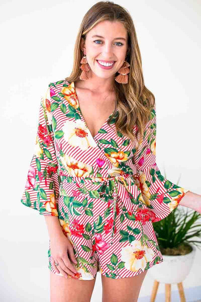 Tops Ready for More Wrap Bell Sleeve Top - Lotus Boutique