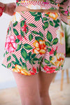 Floral/Stripe Shorts