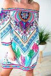 Dresses Surprise Party Tribal Palm Print Dress - Lotus Boutique