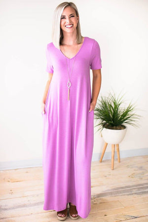 Bright Purple Maxi Dress
