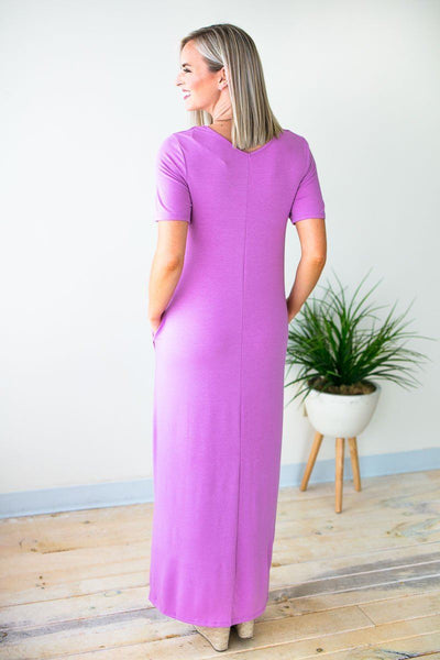 Dresses No Stopping Now Maxi Dress in Purple - Lotus Boutique