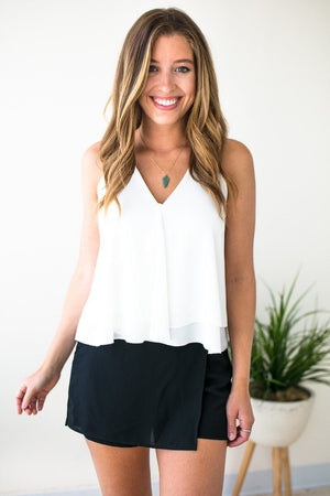 Wrap Layered White Tank
