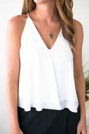 Wrap Front Layered Tank