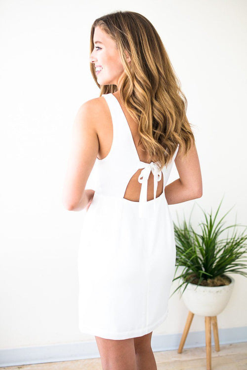 White Sleeveless Open Back