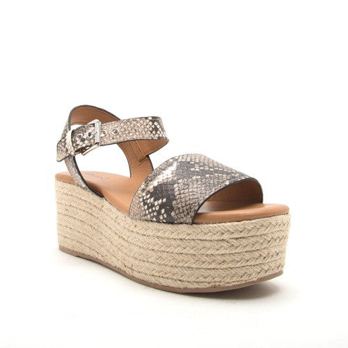 Skin In The Game Snake-skin Platform Sandal