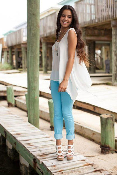 Bottoms Anything But Basic Blue Jegging - Lotus Boutique