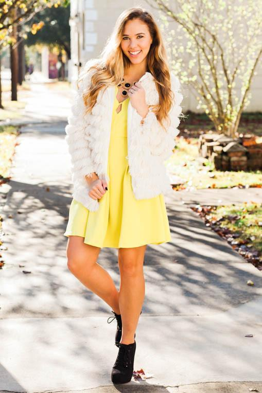 Just A Hint of Lime Scalloped Dress-Dresses-Lotus Boutique-Lotus Boutique