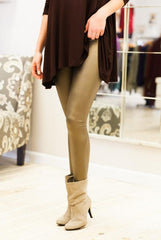 All That Glitters Is Gold Pleather Leggings