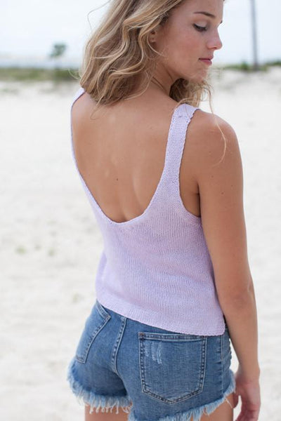 Lovely Lavender Sweater Tank-Tops-Lotus Boutique-Lotus Boutique