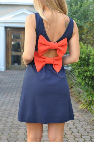 Touchdown Bow Back Game Day Dress