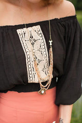 Let It Go Antique Gold Layered Chain Necklace