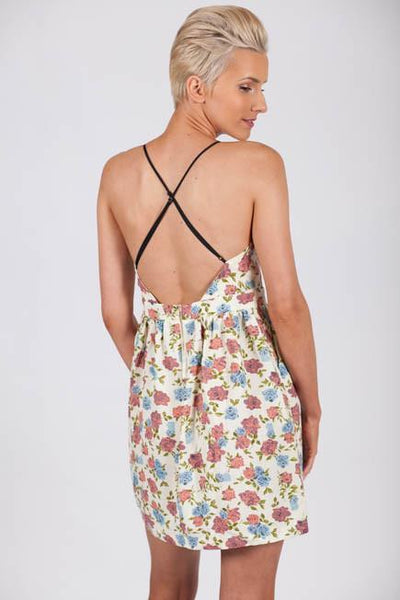Rose to the Occasion Open Back Floral Spring Dress-Dresses-Lotus Boutique-Lotus Boutique