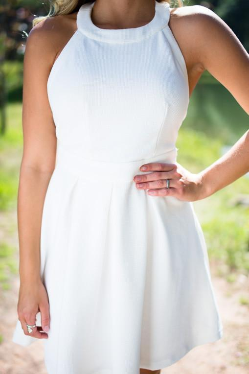 Dresses Barely There Ivory Fit and Flare Dress - Lotus Boutique