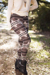 Bottoms My Tribal Fixation Printed Leggings - Lotus Boutique