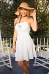 Sunshine in Paradise White Fit and Flare Dress-Dresses-Lotus Boutique-Lotus Boutique