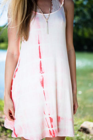 Tell Me I'm Pretty Tie Dye Strappy Dress-Dresses-Lotus Boutique-Lotus Boutique