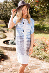Dresses Always Go Back to Blue Tie Dye Midi Dress - Lotus Boutique