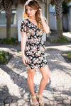Dresses One Direction to My Heart Black Floral Print Dress - Lotus Boutique