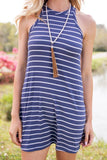 Road Runner Denim Blue Striped Tank Dress