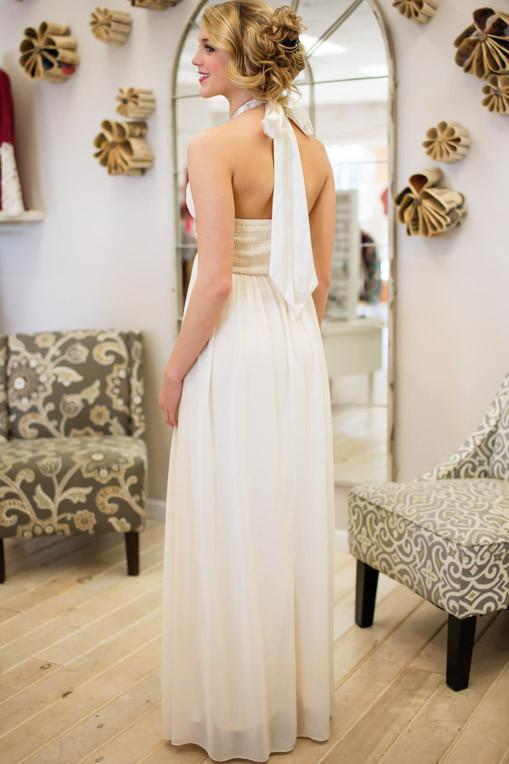 Dresses Daydreaming in My Cream Maxi Gown - Lotus Boutique